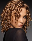 medias melenas - African hair with spiral curls