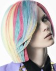 cabellos medios - hair with a rainbow of colors