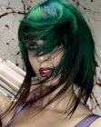 medias melenas – green hair