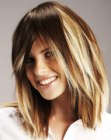 peinados medios - hair with extensions for color accents