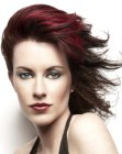 cortes cabello medio - winswept red hair