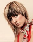 medias melenas - Picture of asymmetrical medium length hairstyle