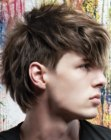 cortes para hombres - rebellious male haircut