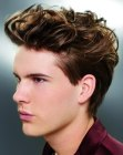 cortes para hombres - lifted top hair for men