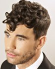 cortes para hombres - vintage hair for men with curls