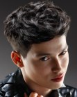 cortes para hombres - clipped sides hairstyle