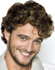 peinados para hombres - curled hair for men