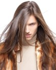 looks para hombres - mid back length mens hair
