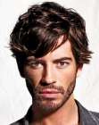 cabello de hombres - mens hair with the ears half covered