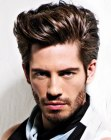 cabello de hombres - mens hairstyle with volume