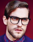 peinados de hombre - male look with glasses