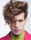 peinados de hombre - modern curls for men