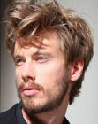peinados de hombre - disheveled hair for men