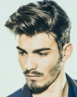 peinados de hombre - hair and beard match