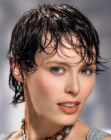peinados cortos - wet look for short hair