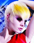 peinados cortos - short yellow hair