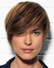 cortes cortos - short hair wit a thick fringe