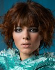 peinados cabello corto - short hairstyle with curls