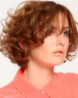 peinados cortos - short hairstyle with curly layers