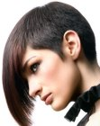 peinados cortos - haircut with a buzzed nape