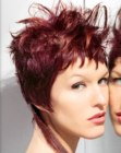 cortes cortos - short hairstyle with long extensions