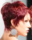 cortes cortos - red hair with orange highlights