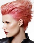cortes cortos - rose hair color