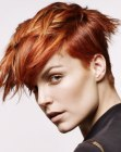 cortes cortos - copper and gold hair