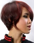 cabello corto - short hair with curve in the neck