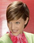 cabello corto - shimmery short hair