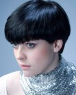 peinados cortos - short curved hairstyle