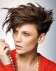 peinados cortos - short hair with high volume