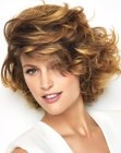 peinados cortos - short hair with thick curls