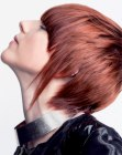 cortes cabello corto - short and spiky red hair