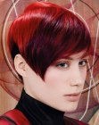 cabello corto - hair with warm and cool tones