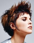 peinados cortos - lifted short hair