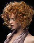 peinados cabello corto - copper hair with curls