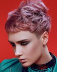 estilos cortos - short purple color hair