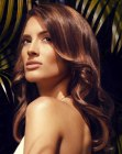 peinados de moda - hazelnut toned highlights