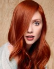 peinados de moda - supple red hair