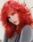 estilos para cabello largo – bright red hair