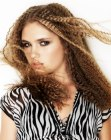 cabello largo - long hair with crimping