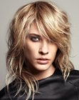 peinados de moda - choppy long hairstyle