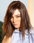 peinados de moda - razor cut long hair