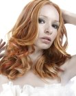 peinados de moda - strawberry blond hair color