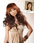 peinados - curling hair extensions
