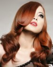 cortes para cabello largo - long red Asian hair