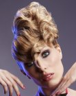 recogidos modernos - updo with waves and curls