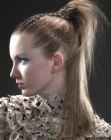 recogidos - fashionable high ponytail