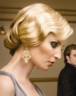 recogidos tendencia - vintage finger wave look